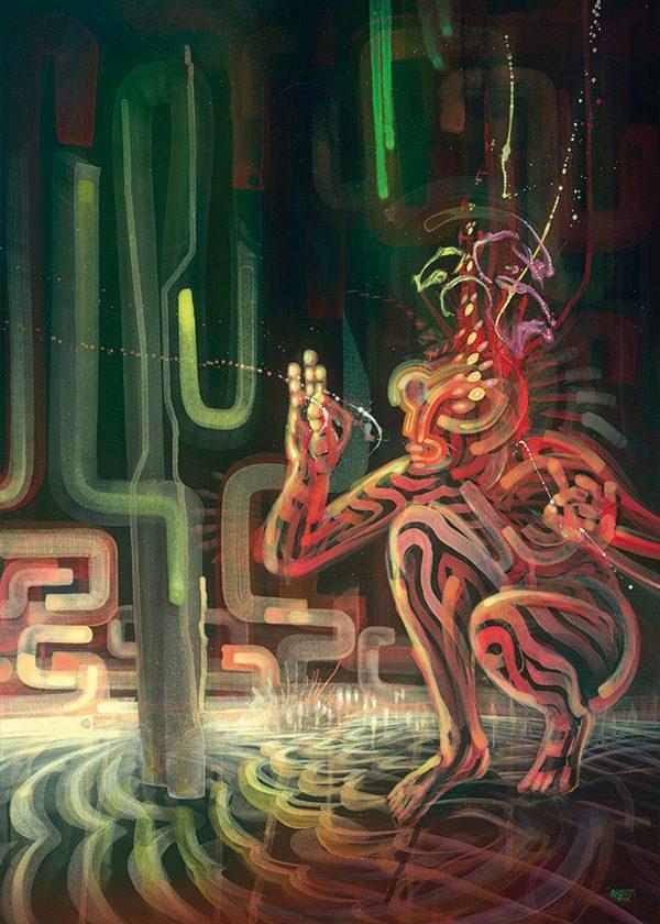 Ayahuasca psychedelic art print poster kunstdruck by Dennis Konstantin Bax.
