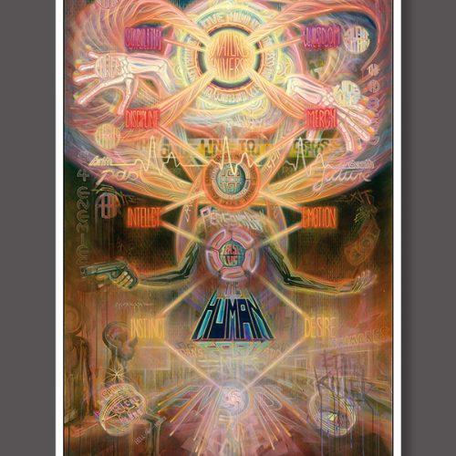 Psychedelic Visionary art print dennis konstantin bax poster kunstdruck ayahuasca psychedelische kunst hamburg