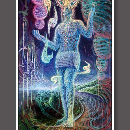 Visionary art print dennis konstantin bax poster kunstdruck ayahuasca visualizing a dmt experience.