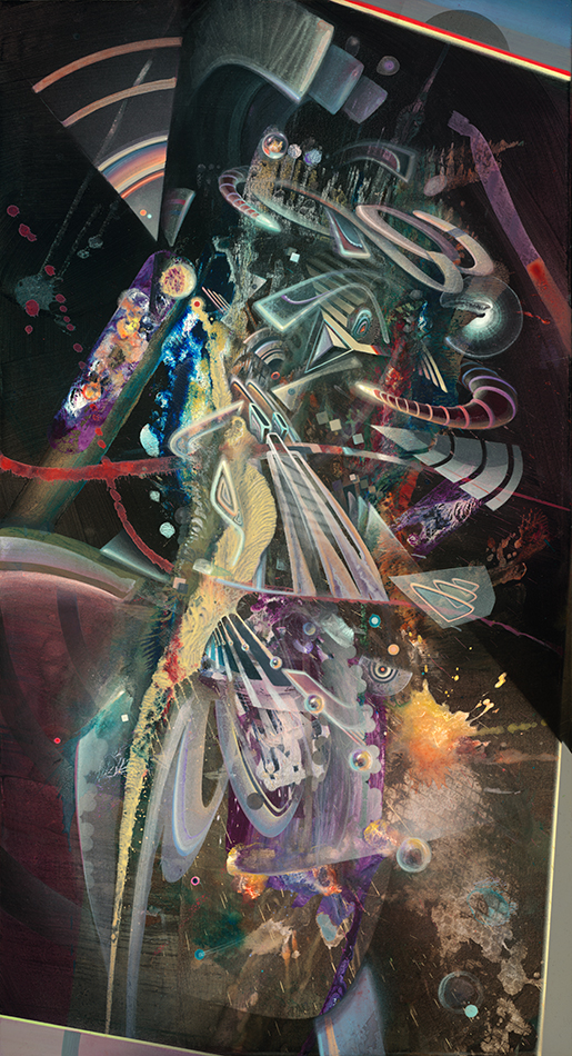 Abstract psychedelic painting by Dennis Konstantin Bax. Psychedelische Kunst aus Hamburg