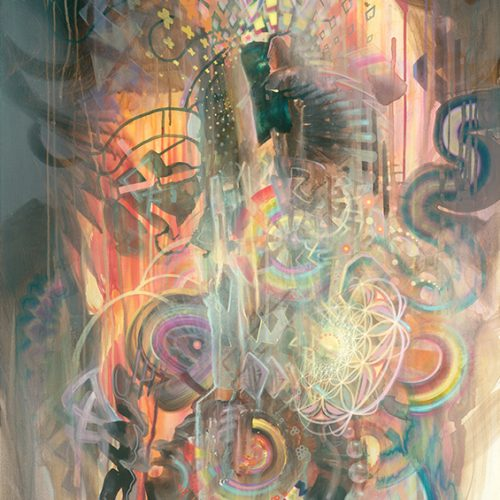 Psychedelic fine art print limited edition from german painter dennis konstantin bax