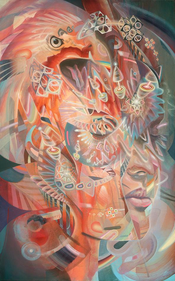 Limited Edition Fine Art Print Dennis Konstantin Bax Psychedelic visionary art surrealism kunstdruck psychedelisch surrealismus