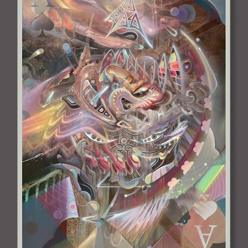 Moetorhead poster print Psychedelic Visionary art by Dennis Konstantin Bax