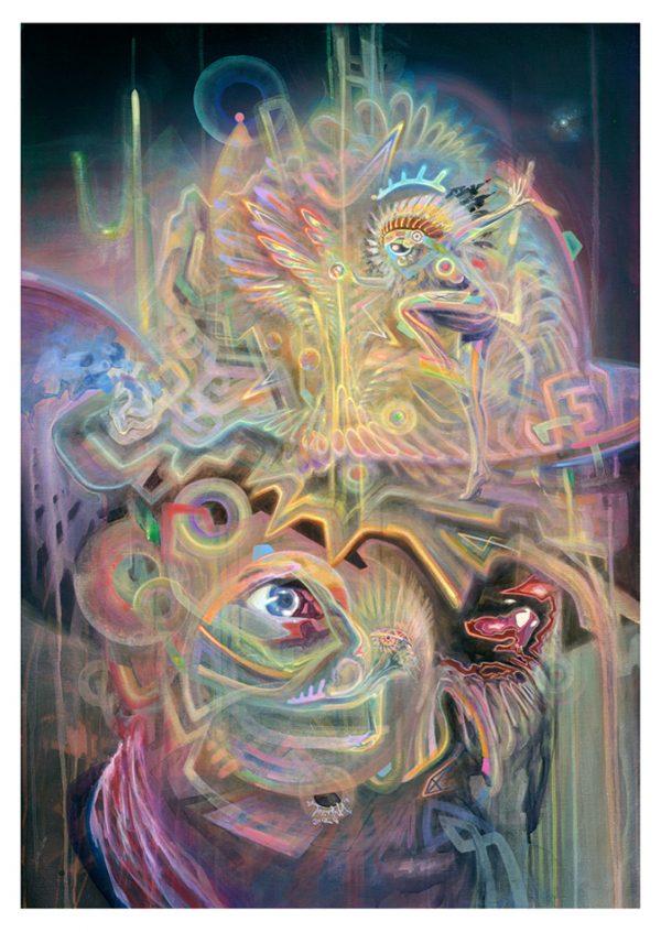 Visionary psychedelic art ayahuasca dmt psychedelische kunst Dennis Konstantin Bax
