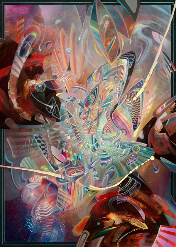Psychedelic abstract fine art print limited edition by dennis konstantin bax