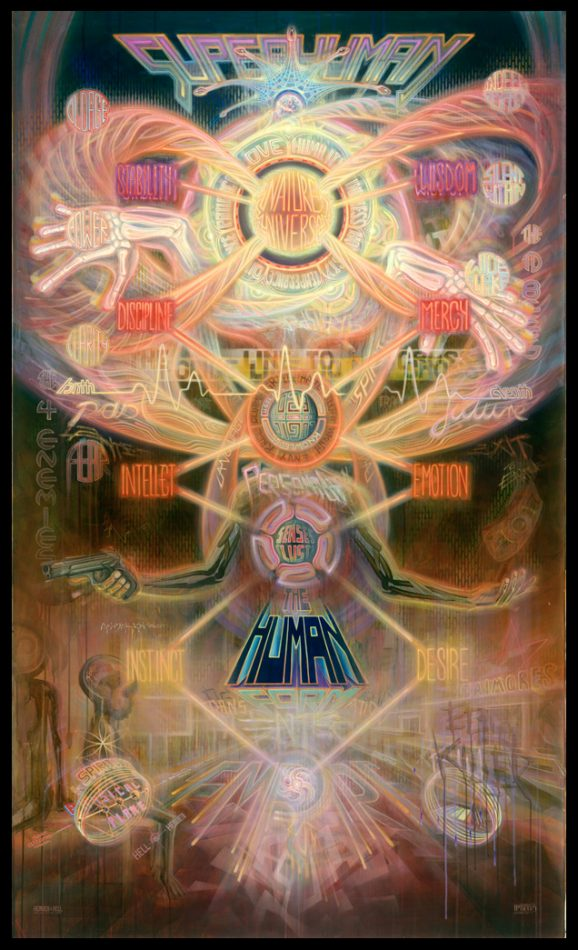 Heaven and Hell dennis konstantin bax tree of life baum des lebens visionary art psychedelic wisdom ancient guide map consciousness