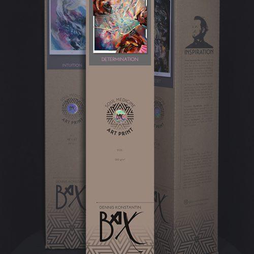 Visionary psychedelic art print poster kunstdruck soul medicine box