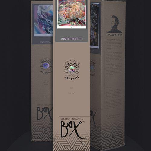 Soul Medicine Box psychedelic art print poster kunstdruck Dennis Konstantin Bax