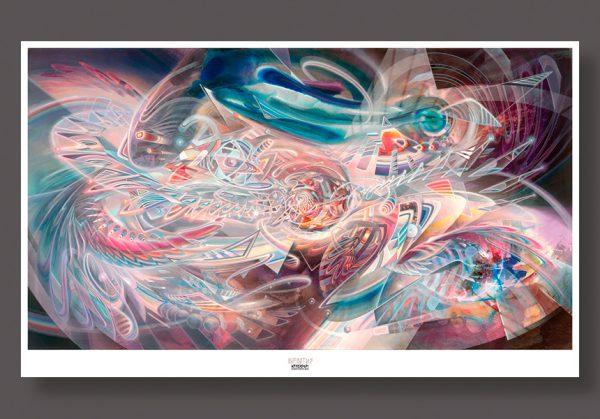 Soul Medicine Psychedelic art print by dennis konstantin bax poster kunstdruck Abstrakte Malerei aus Hamburg.