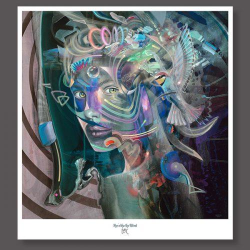 Psychedelic art print from german painter dennis konstantin bax. Visionary art poster kunstdruck aus Hamburg.