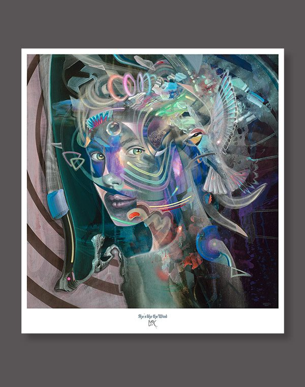 Psychedelic art print from german painter dennis konstantin bax. Visionary art poster kunstdruck aus Hamburg.