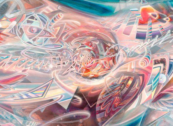 "Detail of fine art print ""Infinitus"" finest psychedelic art from Hamburg."