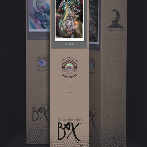 "Soul Medicine Box Abstract psychedelic art print poster kunstdruck by Dennis Konstantin Bax ""Destruction Overdrive"""