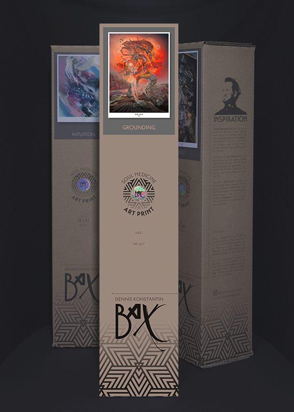 Soul Medicine Box Radar Invader Visionary art print poster kunstdruck aus Hamburg.