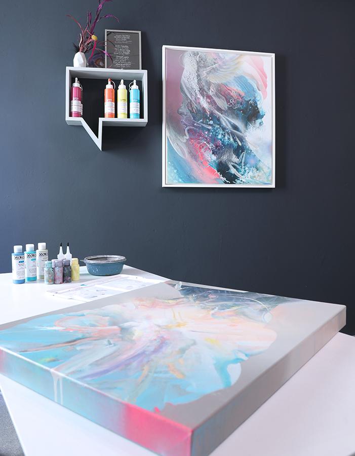 Öl Acryl Malkurs Meisterklasse im Atelier Bax