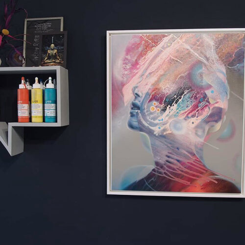 abstract portrait canvas print bax 1