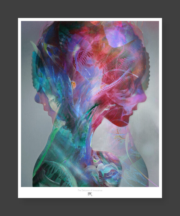 visionary abstract psychedelic poster portrait art print bax