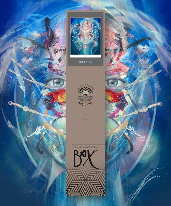 psychedelic visionary art print poster konstantin bax behind blue eyes 2