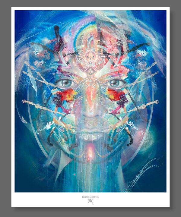 psychedelic visionary art print poster konstantin bax behind blue eyes 1