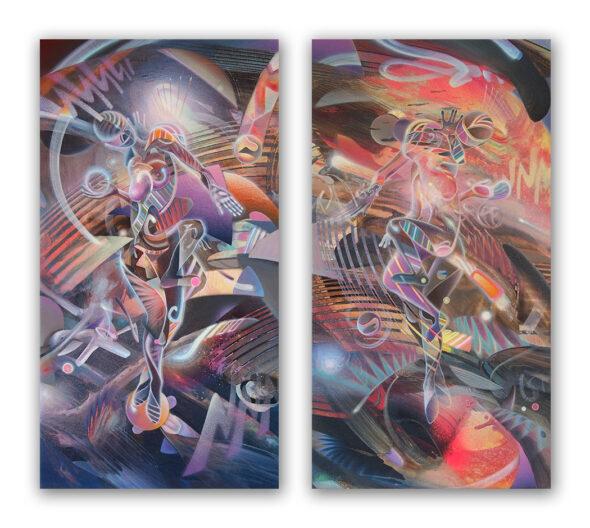 Konstantin Bax DMT Art Dyptich