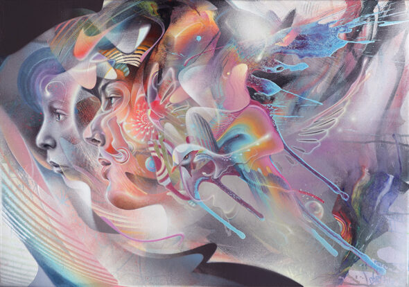 Psychedelic Art Bax Child in Time